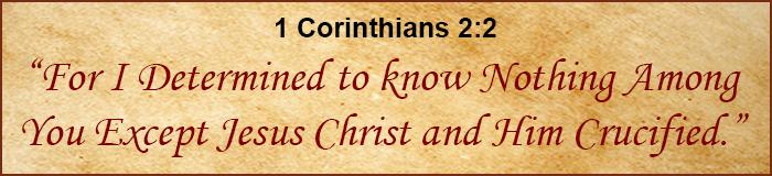 graphic of scripture on parchment background - 1 Corinthians 1:2